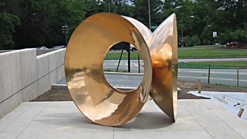 "APOLLO, FLORENCE, ITALY, COMMISSIONED BY CYRUS KATZEN FOR KATZEN CENTER FOR THE ARTS WASHINGTON, DC, 2004, 96""x96""x96"", CAST BRONZE"